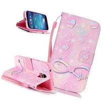 Galaxy S4 Case,NSSTAR Flip PU Leather Fold Wallet Pouch Case