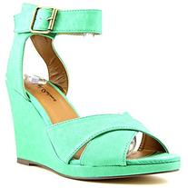 Michael Antonio Women's Gamada Wedge Sandal,Green,7.5 M US