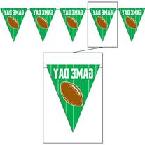 Game Day Football Pennant Banner Party Accessory
