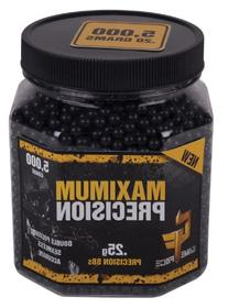 GameFace 5000 Count Maximum Precision Black Airsoft BBs, 0.