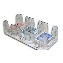 9 Deck Plastic Revolving Playing Card Tray with 3 Slots -