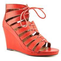 Michael Antonio Women's Garabi Wedge Sandal,Coral,7 M US