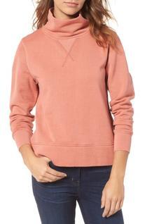 Women's Madewell Garment Dyed Funnel Neck Sweatshirt, Size X
