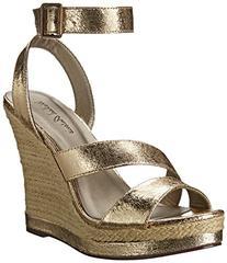 Michael Antonio Women's Gate Wedge Sandal, Gold, 8 M US