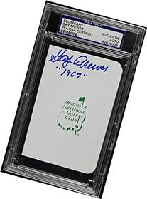 Gay Brewer '1967' Signed Authentic Masters Scorecard PSA/DNA