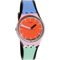 Swatch Women's Originals GB286 Red Silicone Swiss Quartz