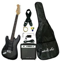 Glen Burton GE101BCO-BKB  Electric Guitar Stratocaster-Style