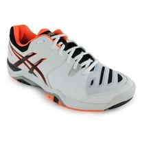 Asics Men's Gel-Challenger 10 Tennis Shoes White and Onyx -