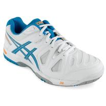 Asics Women's Gel-Game 5 Tennis Shoes White and Soft Blue -