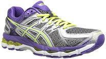 ASICS Women's Gel-Kayano 21 Running Shoe,White/Hot Pink/