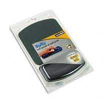 ** Gel Mouse Pad w/Wrist Rest, Nonskid, 6-1/4 x 10-1/8,