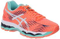 ASICS Women's Gel-nimbus 17 Running Shoe, Flash Coral/White/