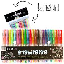 Gel Pens | Rainbow Pack by Gel Gliders | 24 Colors plus 24