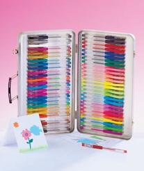 52 Piece Gel Pen Set W/case, 52 Pc Gel Pen Set