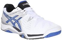 ASICS Men's Gel-Resolution 6 Tennis Shoe,White/Blue/Silver,
