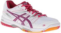 ASICS Women's Gel Rocket 7 Volley Ball Shoe,White/Fuchsia/