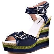 Michael Antonio Women's Gemma Wedge Sandal,Navy,10 M US