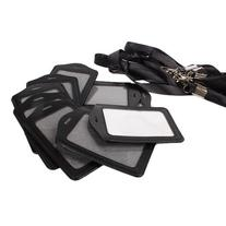 BQLZR Black Business ID Card Badge Holder Vertical and