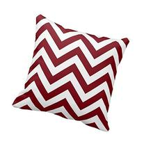 Generic Custom Pillow With Filler Burgundy And White Large