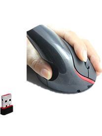 Genric 2.4G Wireless Vertical Optical Black USB Mouse Wrist