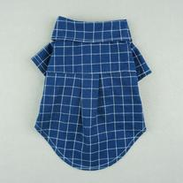 Fitwarm Gentle Formal Blue Dog Shirts for Pet Polo Clothes