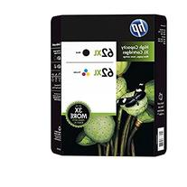 Genuine HP 62XL Black and Color Inkjet Cartridges in Retail