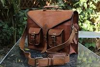 Hlc Genuine Men's Leather Messenger Laptop Briefcase Satchel