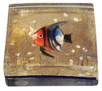 Eccolo Genuine Murano Glass Paperweight, Embedded with 24k