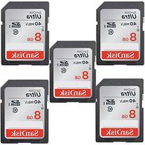 SanDisk ULTRA 8GB Class 10 SDHC Memory Card Up To 40MB/s