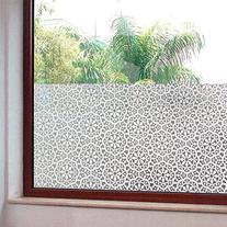 Coavas Geometry Flowers Static Cling Window Film Decorative