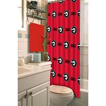 NCAA Georgia Bulldogs Shower Curtain College Football Team