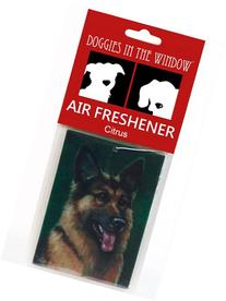 Doggies in the Window German Shepherd Air Freshener, Citrus
