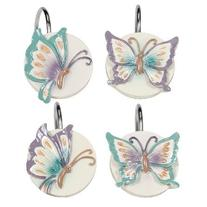Creative Bath GGT83LIL Garden Gate Floral Resin Shower Hooks