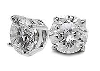 1/2 Carat Total Weight Solitaire Diamond Earrings GH/I1-I2