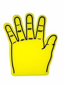 Giant Foam Hand, Yellow