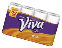 Viva Giant Roll Paper Towels, White, 8 Rolls, Pack of 4