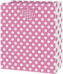 Medium Hot Pink Polka Dot Gift Bag