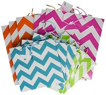 Gift Bag Assortment - 12 Assorted Size Bright Gift Bags