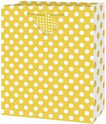 Medium Yellow Polka Dot Gift Bag