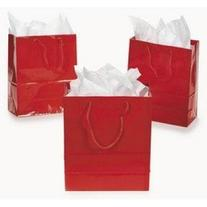 Fun Express Medium Red Gift Bags,9