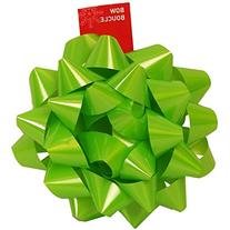 """JAM Paper Gift Bows - Extra Large - 9"""" Diameter - Lime Green"""