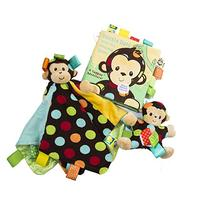 Best Baby Gift Bundle of 3 Pc Set: Dazzle Dots Monkey Soft