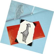 "Giraffe Stamp, clear polymer cling 2.25""x3/4"", includes"