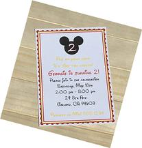 Set of 10 Girlor Boy Birthday Party Invitations Mickey Mouse