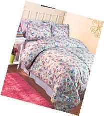 3-Pc. Girls' Floral Full/Queen Comforter Set