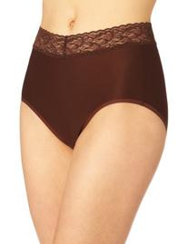 Exofficio Women's Give-N-Go Lacy Full Cut Brief, Chocolate,