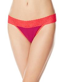 ExOfficio Women's Give-N-Go Lacy Thong  Splash, Medium