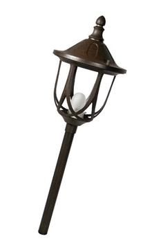 Paradise GL22776RT Cast Aluminum Stanford Post Light, Rust