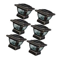 Paradise GL28998BZ Solar Cast Aluminum LED Post Cap Light