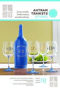 Martha Stewart Crafts Glass Adhesive Stencil, 33270 Bold